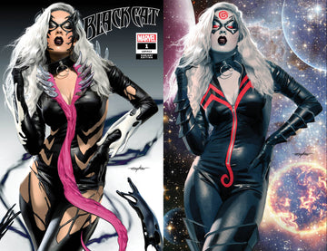 BLACK CAT #1 KIB Mike Mayhew Studio Variant Cover Trade Dress and Virgin Set Raw