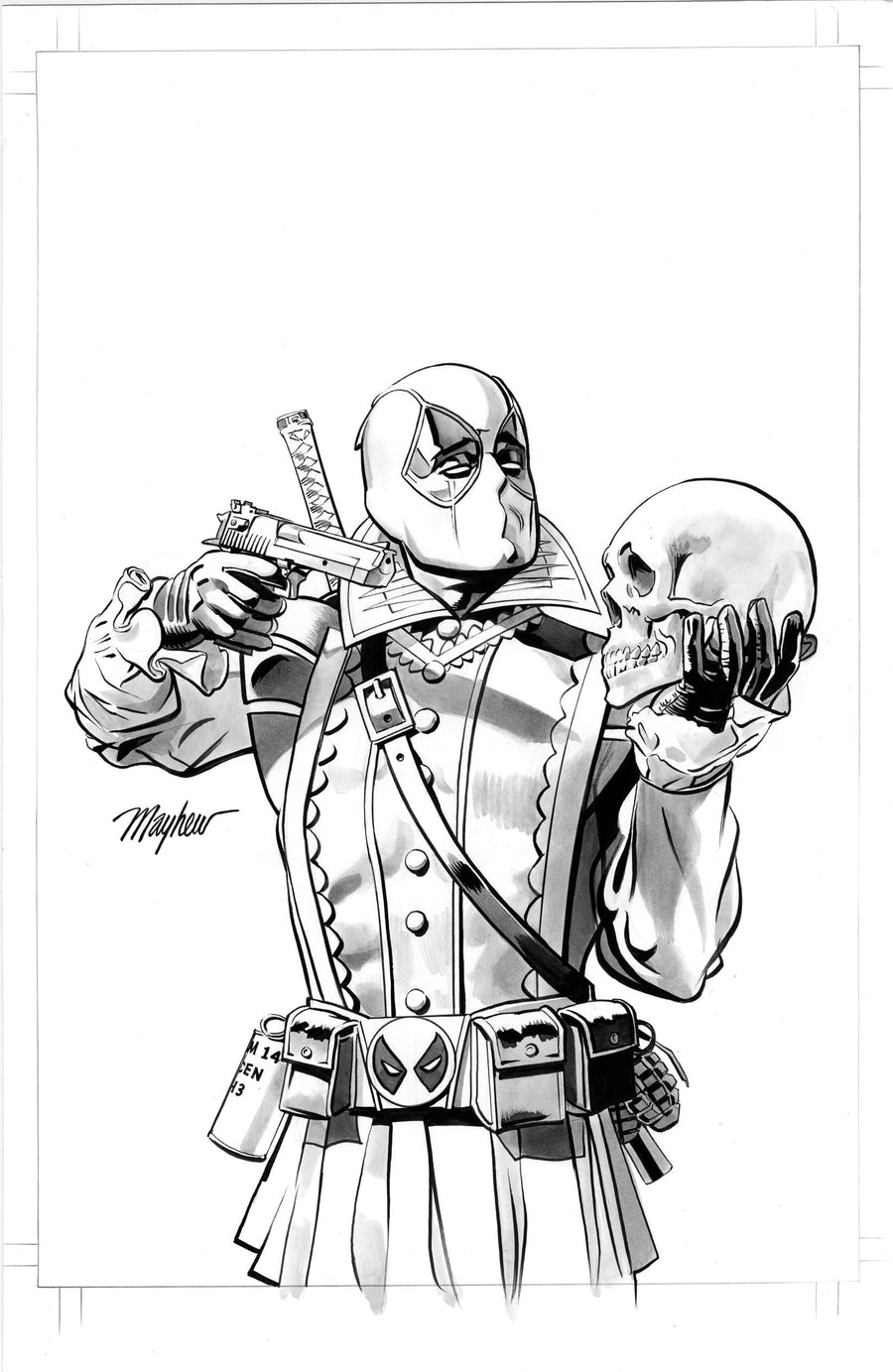 Mike Mayhew Original DEADPOOL #21  Shakespeare Variant Cover Art