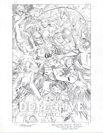 DETECTIVE COMICS #1027 Mike Mayhew Studio Variant Cover Sketch