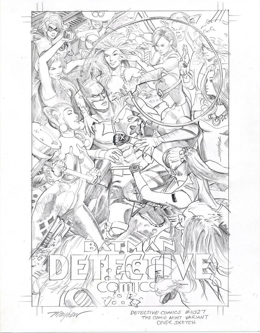 Mike Mayhew Original DETECTIVE COMICS #1027 Mike Mayhew Studio Variant Cover Sketch