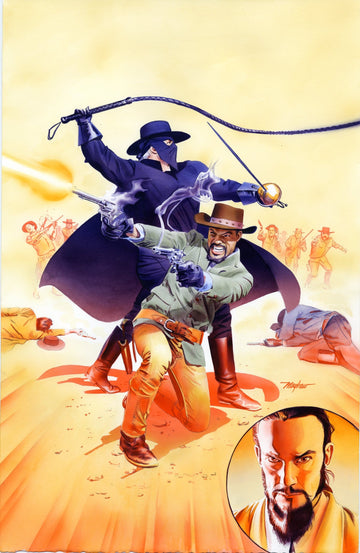 Mike Mayhew Original DJANGO/ZORRO #3 Cover Painting
