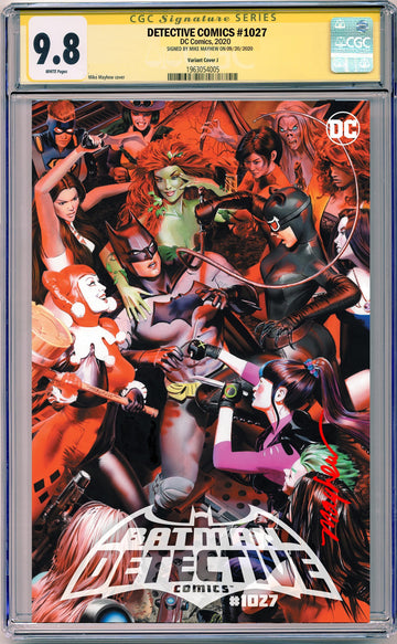 DETECTIVE COMICS #1027 Mike Mayhew Studio Trade dress SIGNED by Mayhew CGC 9.6 or better