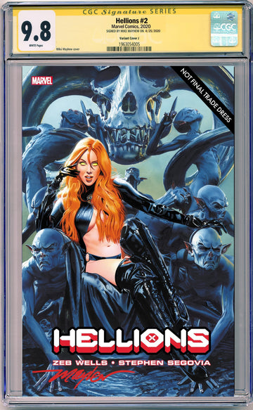 HELLIONS #2 MIKE MAYHEW STUDIO EXCLUSIVE VARIANT CGC SIG SERIES 9.8 OPTIONS