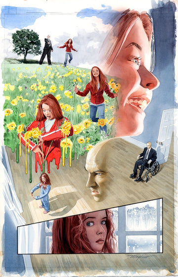 X-MEN ORIGINS: JEAN GREY Page 6 Watercolor Page