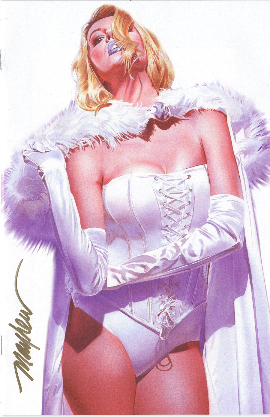 MARAUDERS #4 Mike Mayhew White Queen Trade Dress & Virgin Variant Signed