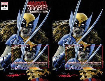 MARVEL ZOMBIES: RESURRECTION #1 ZOMBIE X-23 Variant Cover A Trade Dress and Cover B Virgin Set Signed with COA