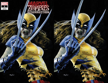 MARVEL ZOMBIES: RESURRECTION #1 ZOMBIE X-23 Variant Cover A Trade Dress and Cover B Virgin Set Raw
