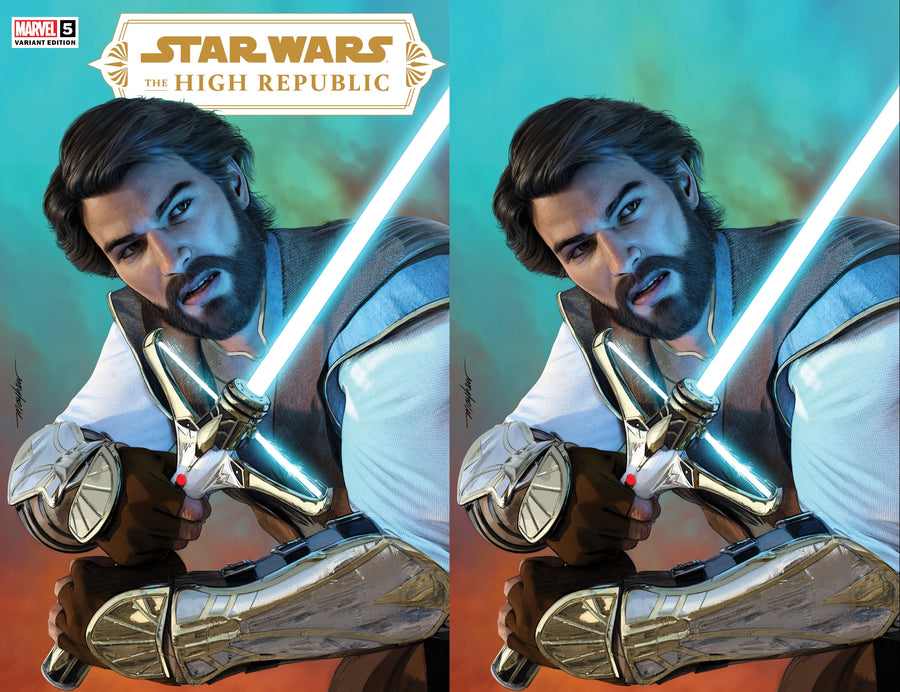 STAR WARS: THE HIGH REPUBLIC #5 MIKE MAYHEW STUDIO VARIANT COVER TRADE DRESS AND VIRGIN SET RAW