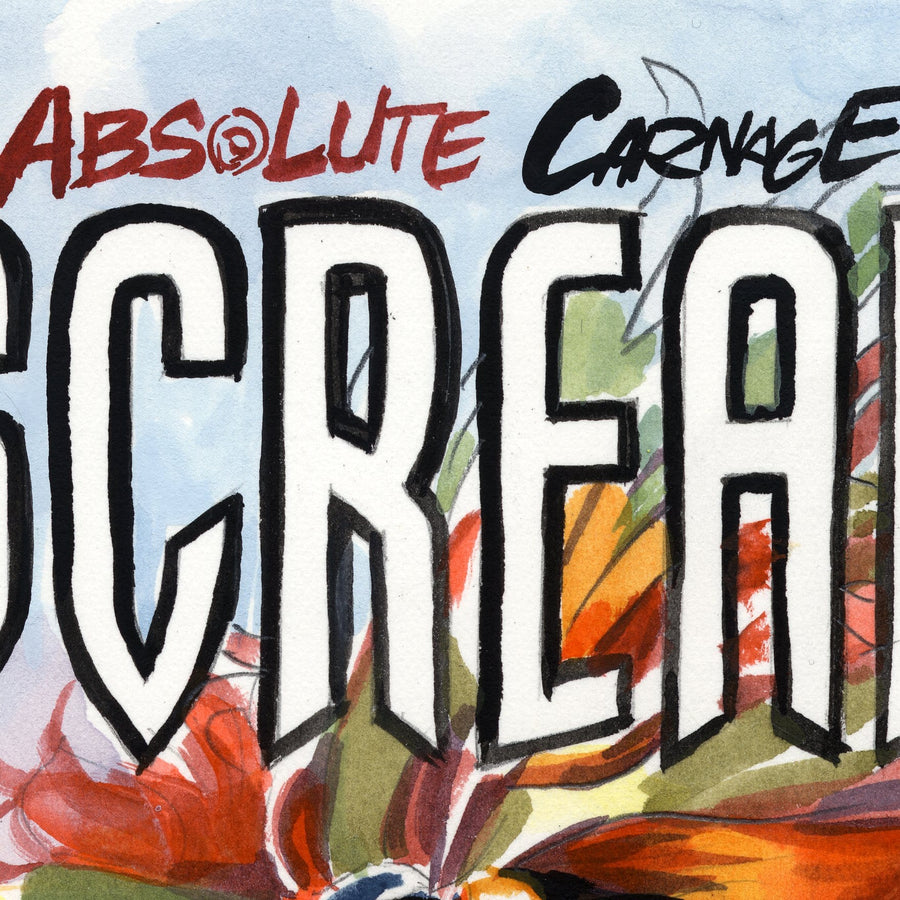 SCREAM: CURSE OF CARNAGE #1 Variant Cover Painted Prelim