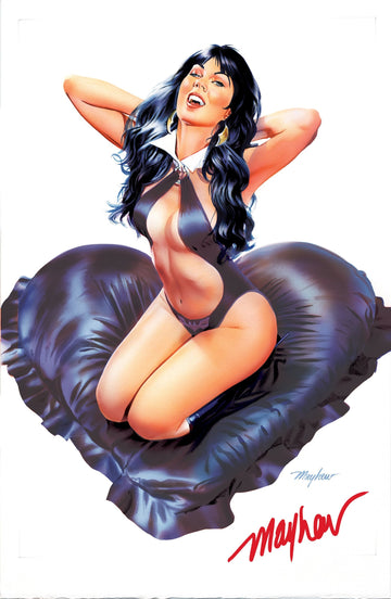 "VAMPIRELLA VALENTINE'S SPECIAL #1 Mike Mayhew Studio ""Black Beauty"" Signed Raw Variant Cover"