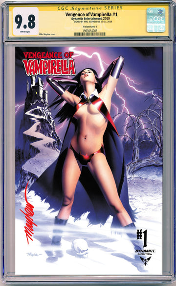 VENGEANCE OF VAMPIRELLA #1 MIKE MAYHEW STUDIO EXCLUSIVE VARIANTS CGC SIG SERIES 9.8 OPTIONS