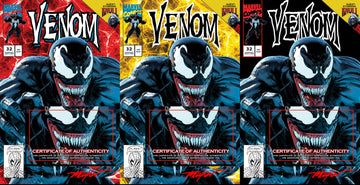 VENOM #32 Mike Mayhew Studio Variant Cover A, Cover B and Cover C Set Signed with COA
