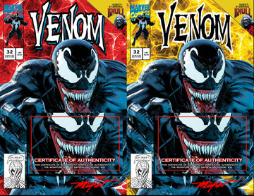 VENOM #32 Mike Mayhew Studio Variant Cover A and Cover B Set Signed with COA