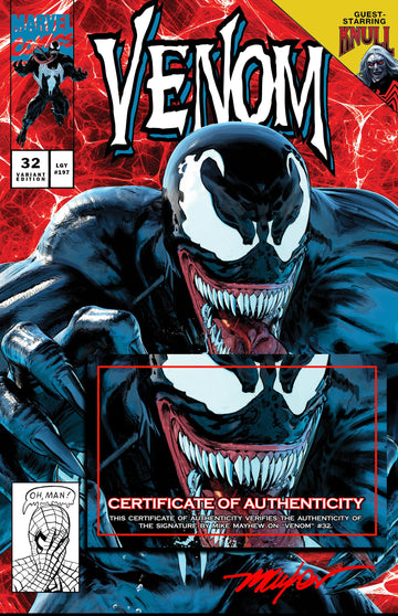 VENOM #32 Mike Mayhew Studio Variant Cover A Signed with COA