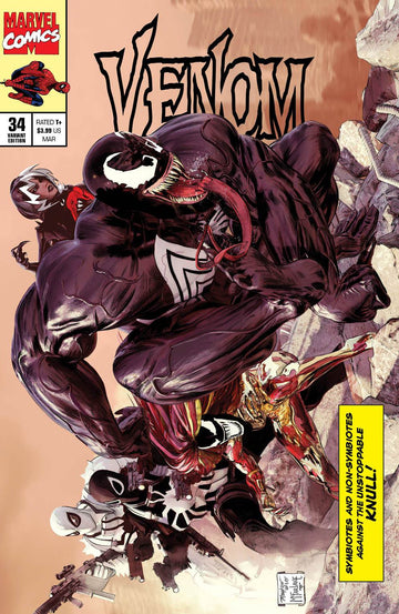 VENOM #34 Mike Mayhew Studio Variant Cover A Trade Dress Raw