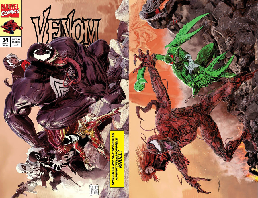VENOM #34 Mike Mayhew Studio Variant Cover A Trade Dress and Cover B Set Raw