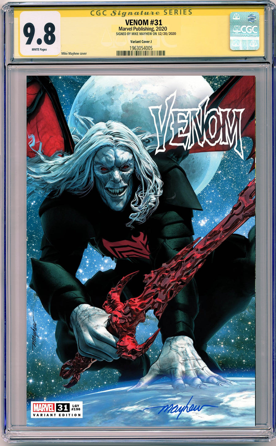 VENOM #31 MIKE MAYHEW STUDIO EXCLUSIVE VARIANTS CGC SIG SERIES 9.6 AND ABOVE OPTIONS