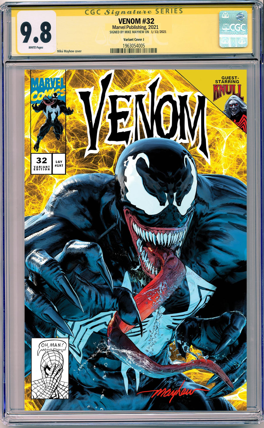 VENOM #32 MIKE MAYHEW STUDIO EXCLUSIVE VARIANTS CGC SIG SERIES 9.6 AND ABOVE OPTIONS