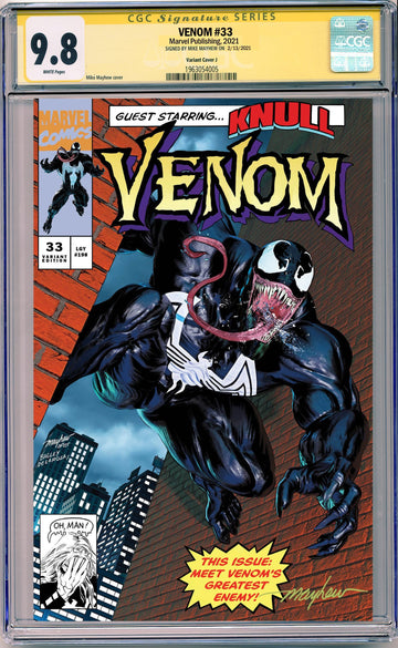 VENOM #33 MIKE MAYHEW STUDIO EXCLUSIVE VARIANTS CGC SIG SERIES 9.6 AND ABOVE OPTIONS