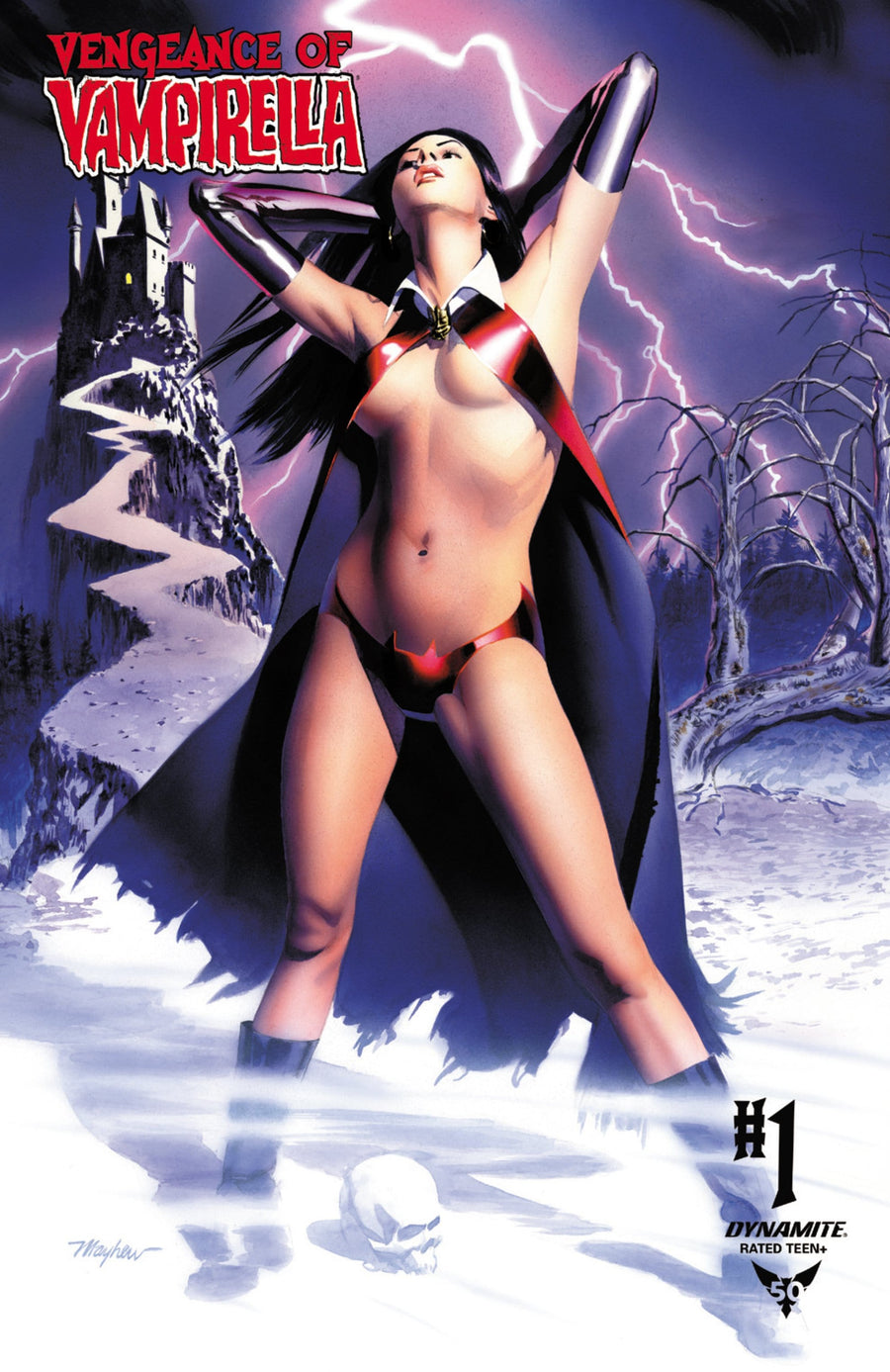 VENGEANCE OF VAMPIRELLA #1 MIKE MAYHEW STUDIO VARIANT COVER EXCLUSIVE OPTIONS