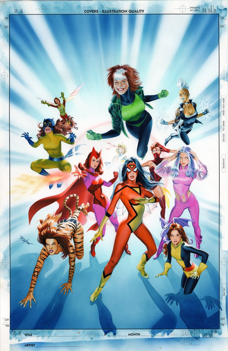 WOMEN OF MARVEL Vol 2 Cover Painting