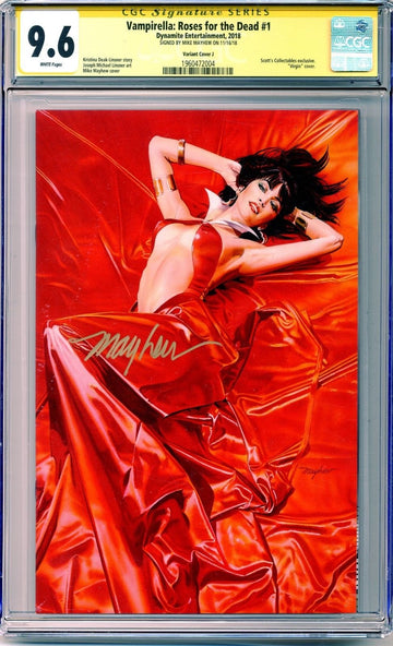 VAMPIRELLA: ROSES FOR THE DEAD #1 Mike Mayhew Variant A CGC Signature Series 9.6