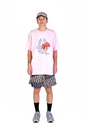 HARD CORE VIBES - T-SHIRT - PINK
