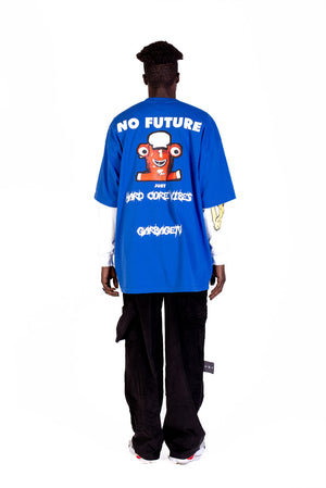 SPEED - OVER SIZE T-SHIRT - BLUE
