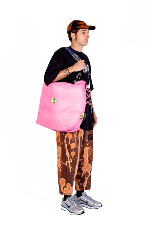 AKA NORMAN - PUFF BAG - PRINT BLACK