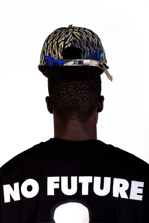 ROPED - TECH CAP - PRINT BLACK