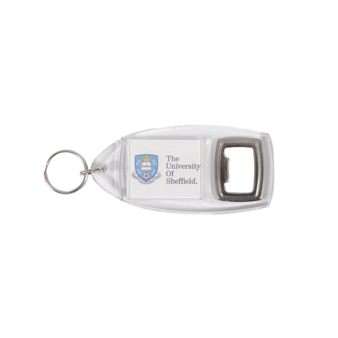 Logo Bottle Opener Keyring