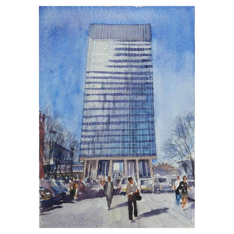Arts Tower Greetings Card