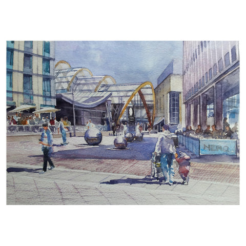 St Paul's Square Greetings Card