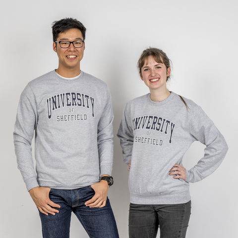 Essential University Of Sheffield Sweatshirt Grey