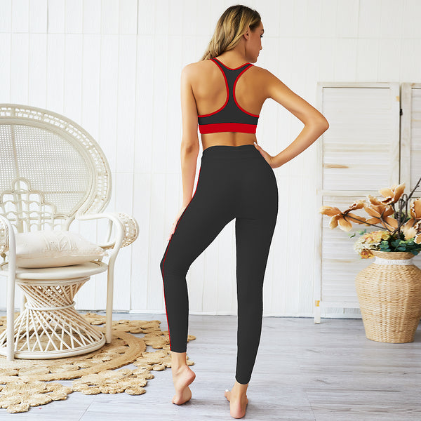 Color Stitching Yoga Outfit Set