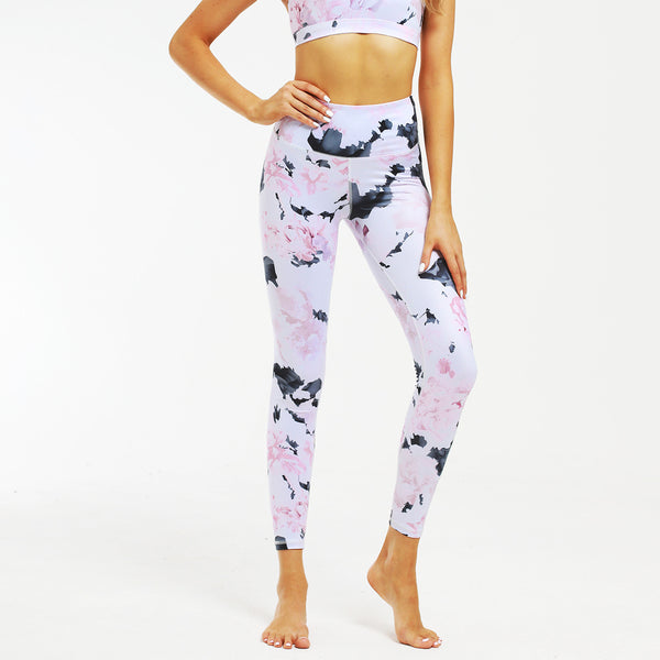 Spring Floral Printing Yoga Outfit Set