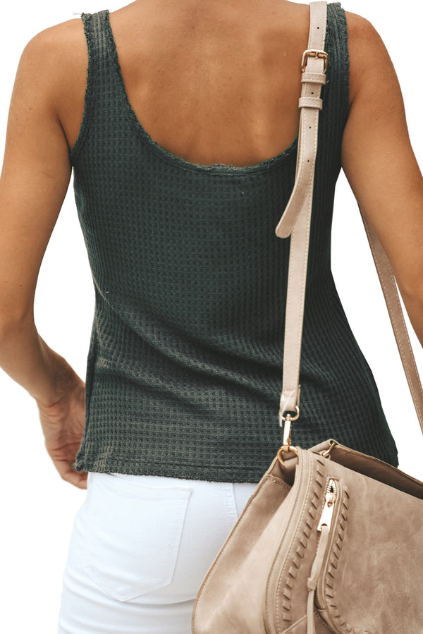 Green Sexy Single Breasted Sling Vest