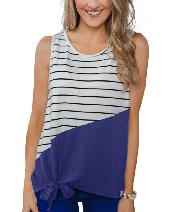 Blue Time of Our Lives Striped Tank