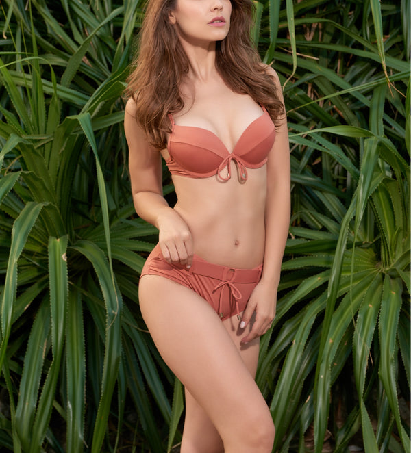 Dusty Rose Raya Belt Bikini
