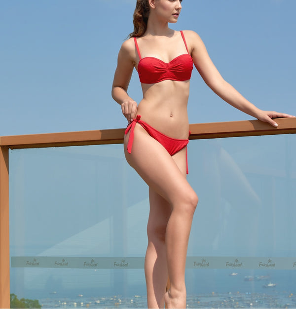 Elle Sunflower Red Bikini