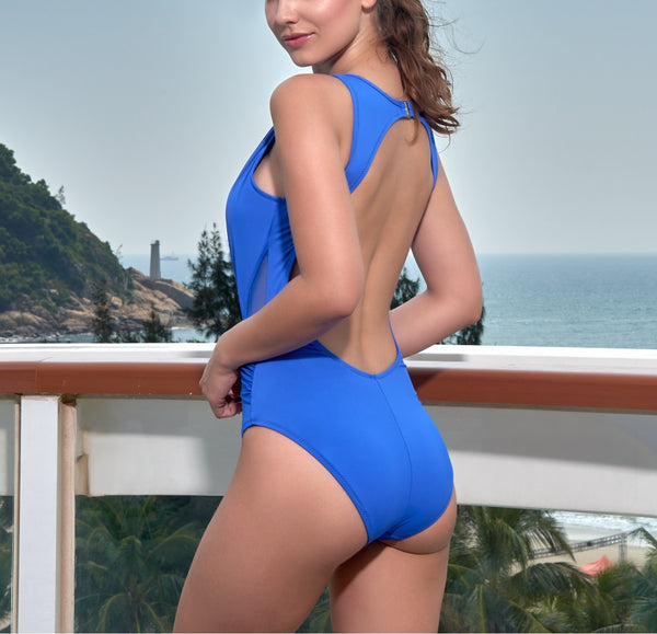 Deep V Tulle One Piece Swimwear