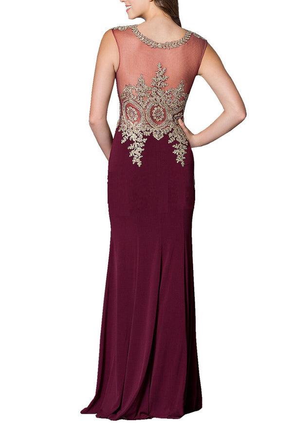 Formal Evening Dress with Jwel/ Appliques
