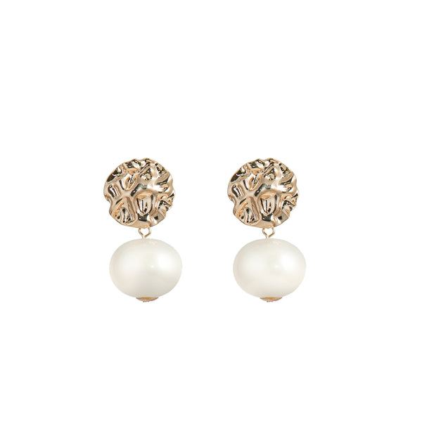 Large Faux Pearl Earrings