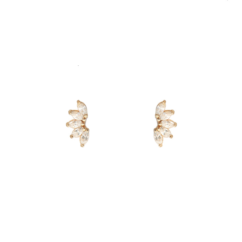 Pear Shaped Cubic Zirconia Earrings (10K Gold)