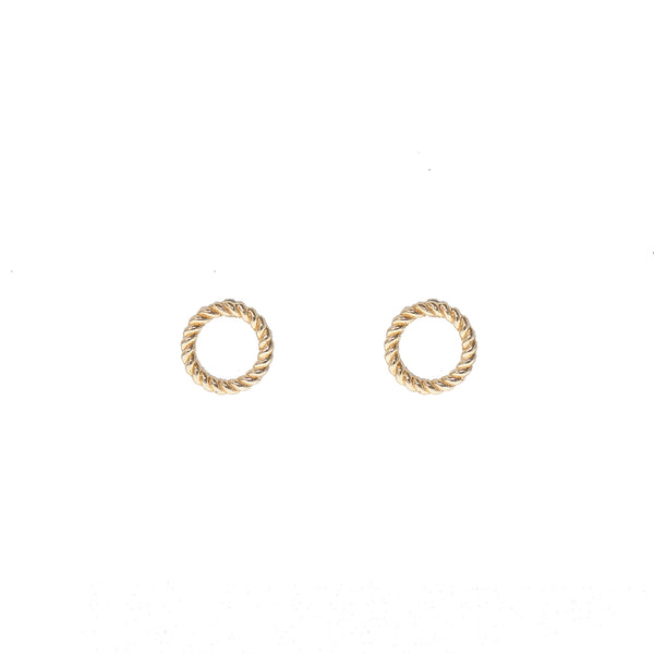 Golden Ring Studs (14K Gold)
