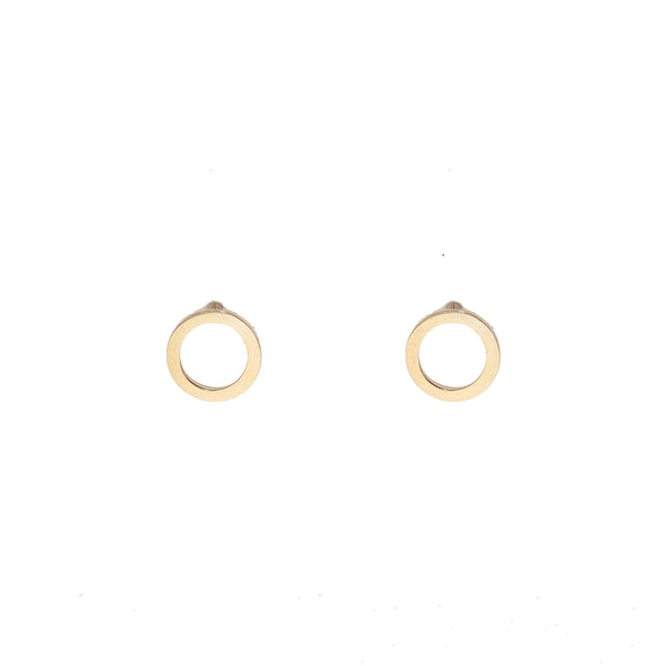 Gold Circle Earrings (10K Gold)