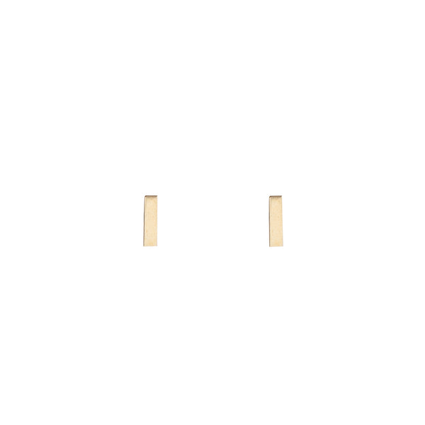 Golden Bar Studs (10K Gold)