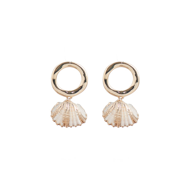Gilded Real Shell Earrings