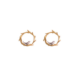 Birds Nest Stud Earrings