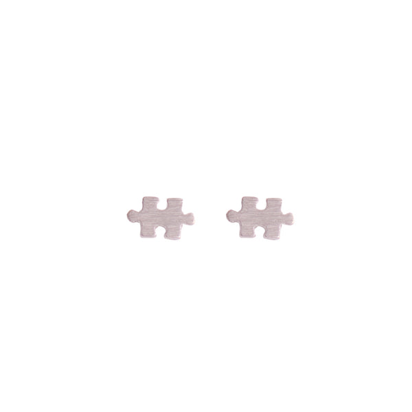 Puzzle Piece Stud Earrings